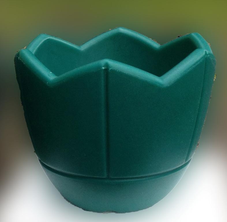 Кашпо для цветов, d300, зеленый