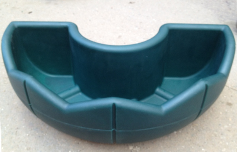 Кашпо для цветов, R420, зеленый