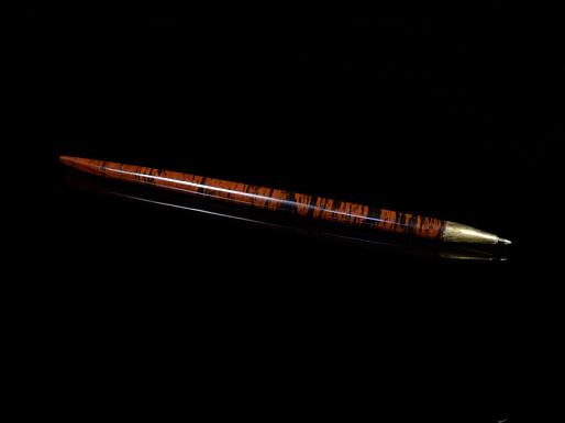 Ручка подарочная из обсидиана, 195*10