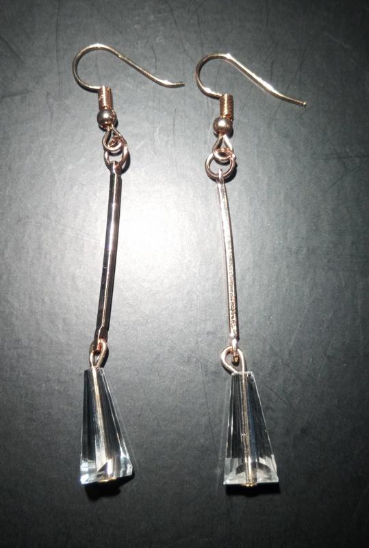 Серьги с подвеской-конус, 8*70