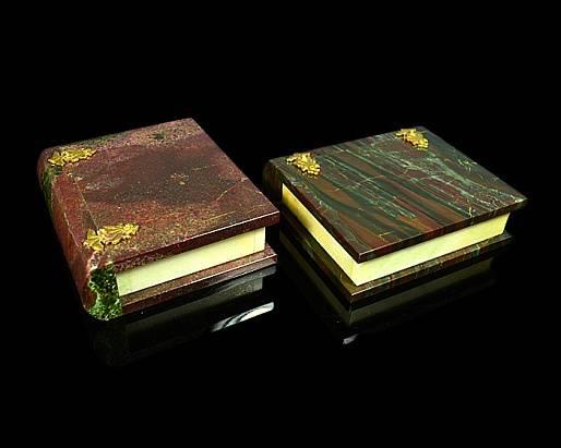 Шкатулка Книга из яшмы, 120*125*40