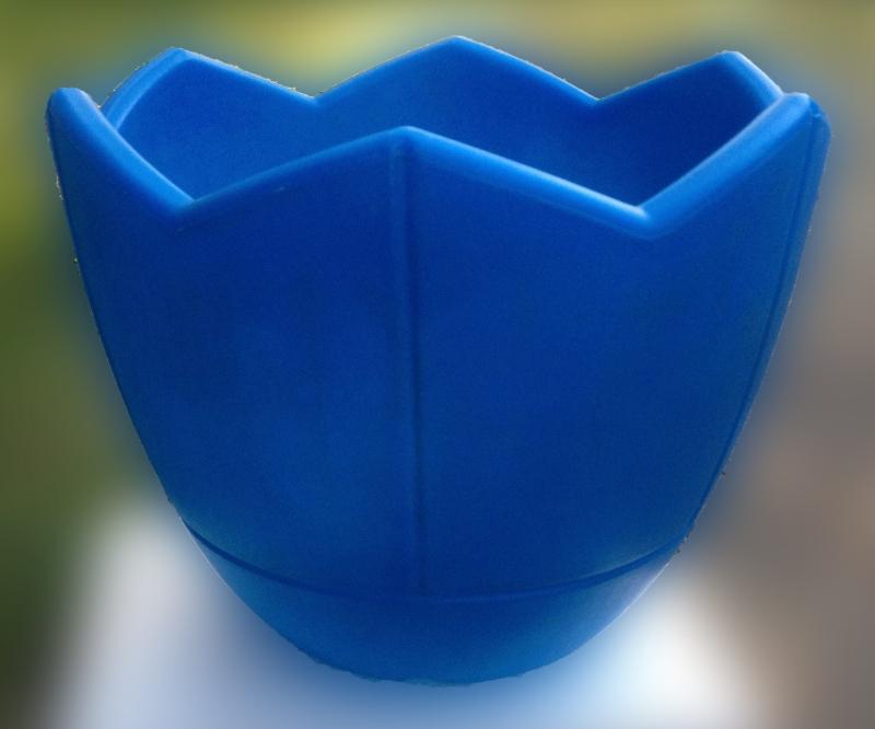 Кашпо для цветов, d400, голубой